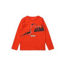 NAME IT Shirt 'VUX LS TOP T' rot / schwarz / weiß