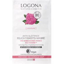 Logona Gesichtspflege Anti-Aging Pflege Bio-Damaszener Rose & Kalpariane Aktiv Glättende Feuchtigkeits-Maske 15 ml