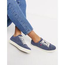 Levi's – Woodward – Blaue Leinen-Sneaker