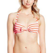 Skiny Damen Schalen Bikinioberteil Miami Heat/Da. BH, Gr. 75B, Mehrfarbig (grenadine stripe 5973)