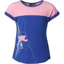 ICEPEAK T-Shirt 'Rona' blau / altrosa