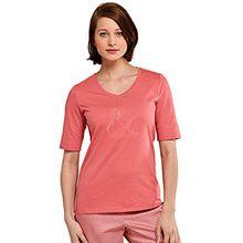 SCHIESSER Damen T-Shirt Mix & Relax 1er Pack, Farbe:Whisky (604);Größe:42 (XL)