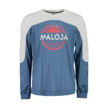 Maloja - CurdinM. Longsleeve Herren Freeride Trikot (blau/weiß) - L