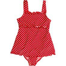 Playshoes UV-Schutz Badeanzug mit Rock, rot mit Punkten