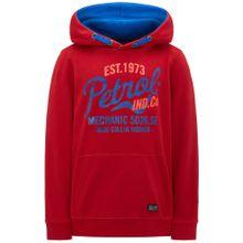 Petrol Industries Sweater himmelblau / koralle / feuerrot