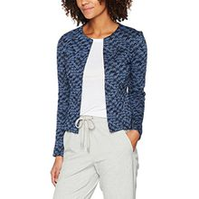 TOM TAILOR Damen Anzugjacke Colourful Blazer, Blau (Real Navy Blue 6593), 38 (Herstellergröße: M)