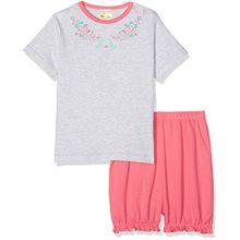 DIMO-TEX Baby-Mädchen Zweiteiliger Schlafanzug Babypyjama Mermaid Shorty 2 Teilig, Mehrfarbig (Rosa 114), 104