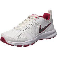 Nike T-Lite XI, Damen Sneakers, Weiß (White/Metallic Silver-Fchs Frc), 41 EU (7 Damen UK)
