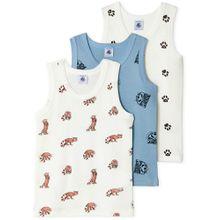 Petit Bateau 3er Pack Unterhemd - Panda