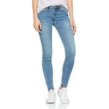 Noisy may Damen Slim Nmeve LW Pocket Piping Jeans VI878 Noos, Blau (Medium Blue Denim), W29/L34 (Herstellergröße: 29)