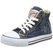 Levi's Jungen Original Red Tab Hi Hohe Sneaker, Blau (Blue Denim 0740), 37 EU