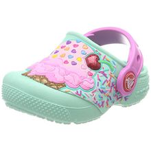 crocs Fun Lab Clog Kids, Unisex - Kinder Clogs, Blau (Mint/Party Pink), 25/26 EU