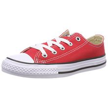 Converse Chuck Taylor All Star Core Ox 015810-21 Unisex - Kinder Sneaker, Rot, 34 EU