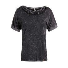 khujo T-Shirt LUIGINA T-Shirts dunkelgrau Damen