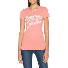Tommy Jeans Damen Tjw Basic CN T-Shirt S/S 11, Rosa (Blush 682), Gr. Large