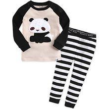 Vaenait Baby Kinder Maedchen Nachtwaesche Schlafanzug-Top Bottom 2 Stueck Set Little Panda M