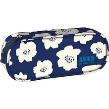 BACK UP Etuibox White Flowers blau/weiß Mädchen Kinder