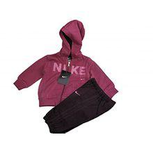Nike Baby Mädchen (0-24 Monate) Sweatanzug rosa Dark Pink /Purple Gr. 9 - 12 Monate, Dark Pink /Purple