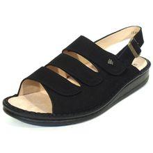 FINN COMFORT Damen Sandale SYLT schwarz 2509, 40, schwarz Nubuk