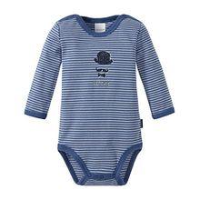 Schiesser Baby-Jungen Zirkus Strong Boy Body 1/1, Blau (Blau 800), 104