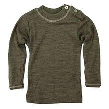 Baby-Shirt, langarm, Gr:-74/80 Farbe:-Walnuss