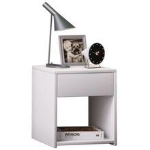 """Nachttisch """"Sledo Mini"""" mit 1 Schublade 40x35x35 cm weiß"""