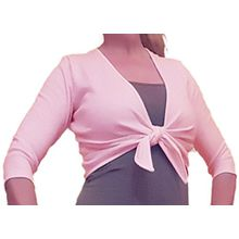 Ballettjacke Wickeljacke rosa mit 3/4 Arm für Mädchen - 50% Baumwolle 50% Polyester