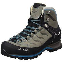 Salewa Mountain Trainer Mid Leder - HALBHOHER Bergschuh Damen, Damen Trekking- & Wanderstiefel, Grau (Pewter/Ocean 4053), 40 EU (6.5 Damen UK)