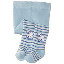 Playshoes Baby - Jungen Strumpfhose 499051 Thermo Strumpfhose Eisbär, Gr. 62/68, Blau (marine/hellblau)