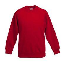 Fruite of the Loom Kinder Raglan Sweatshirt, Rot, Gr.152