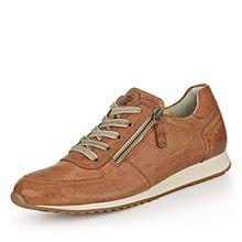Paul Green 4252-241 Damen Sneaker Aus Hochwertigem Leder gepolsteter Schaftrand, Groesse 9, Cognac
