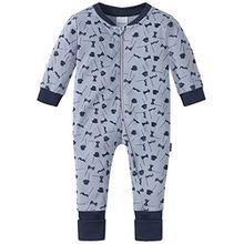 Schiesser Baby-Jungen Zweiteiliger Schlafanzug Zirkus Strong Boy Anzug mit Vario Fuß, Grau (Hellgrau 204), 68 (Herstellergröße: 068)