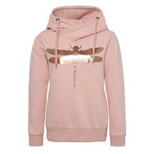 Rock Angel Damen Sweathoodie mit Libellenprint MIRA | Sportlich-Eleganter Kapuzenpullover rose XL