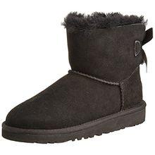 UGG Unisex-Kinder Mini Bailey Bow Kurzschaft Stiefel, Schwarz (Nero), 35 EU