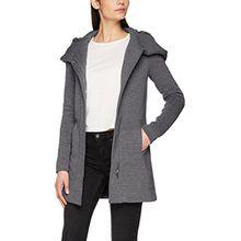 ONLY Damen Mantel Onlsedona Link Coat CC Otw, Grau (Dark Grey Melange Dark Grey Melange), 34 (Herstellergröße: XS)