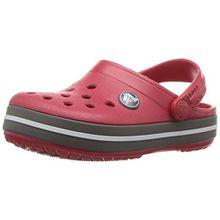 crocs Crocband Clog Kids, Unisex-Kinder Clogs, Rot (Pepper/Graphite), 19/20 EU
