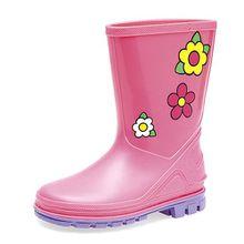 Kinder Gummistiefel UK Größen (Kinder) 3,4,5,6,7,8,9,10, Pink - Pink / Lila - Größe: 27 EU Kind