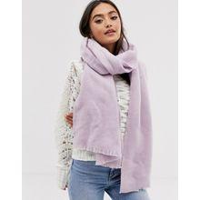 ASOS DESIGN - Extrem weicher, gewebter und langer Schal mit unbearbeiteten Kanten - Violett