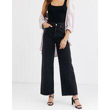 Vero Moda - Jeans mit weitem Beinschnitt - Schwarz