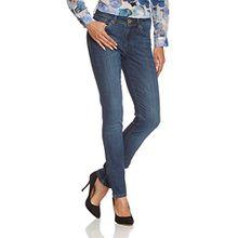 Cross Jeans Damen Slim Jeans Anya, Gr. W30/L36 (Herstellergröße: 30), Blau (Dark Used 006)