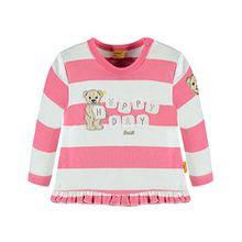 Steiff Baby-Mädchen Sweatshirt 1/1 Arm, Rosa (Hot Pink 2610), 68