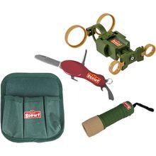SCOUT Gürteltasche mit Taschenlampe, Fernglas und Taschenmesser grün