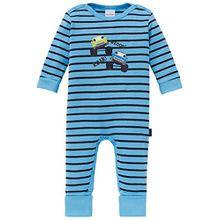 Schiesser Unisex Baby Bekleidungsset Anzug mit Vario Fuß, Blau (Hellblau 805), 086