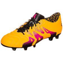 ADIDAS PERFORMANCE Fußballschuhe 'X 15.1 FG/AG Leder B26980' gelb / pink / schwarz