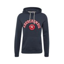 Abercrombie & Fitch Sweatshirt 'ATHLETIC CLUB POPOVER' navy / rot