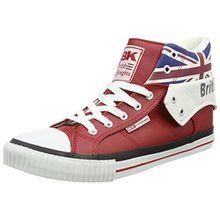British Knights ROCO UNION JACK, Unisex-Erwachsene Hohe Sneakers, Rot (red multi 02), 38 EU