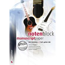 Buch - Notenblock mit Tabulatur