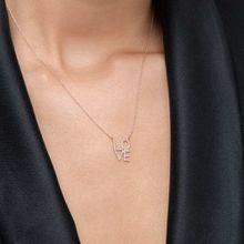 Halskette Love mit Diamanten, 18 K Roségold