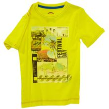 TOM TAILOR Kids Jungen T-Shirt 10252920082/tee festival day, Gr. 104/110, Gelb (3207 bright yellow)