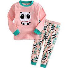 Vaenait Baby Kinder Maedchen Nachtwaesche Schlafanzug-Top Bottom 2 Stuck Set Panda Bebe XL